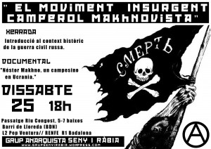 """Activitats: """"El moviment insurgent camperol makhnovista."""""""